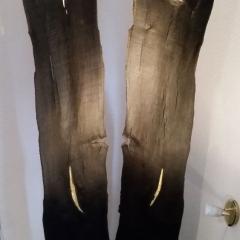 Mietkunst statt Holzkunst kaufen 12_Gesichter in Schwarz