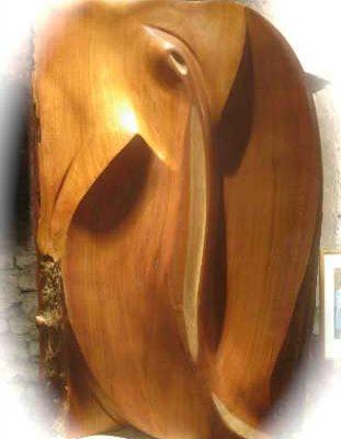 Holz Design - abstrakter Engel <br>- Skulpturen kaufen